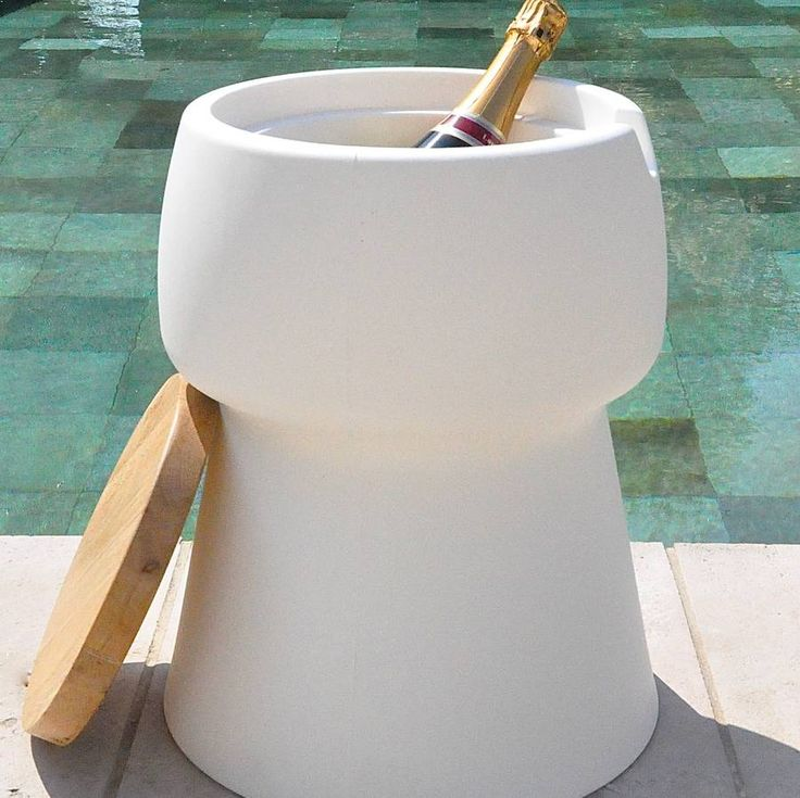 Champagne Cork Shaped Stool / Ice Bucket