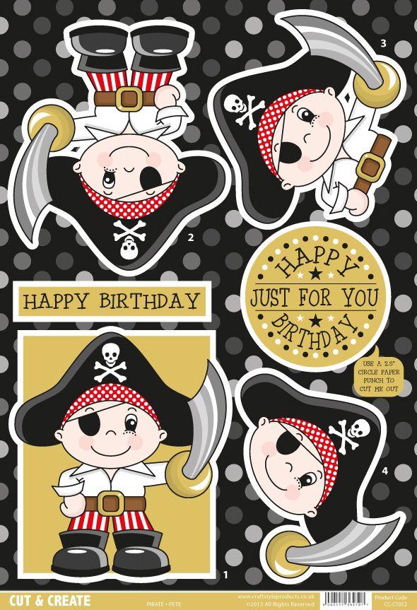 Buzzcraft Boys and Girls Cut & Create - Pirate Pete
