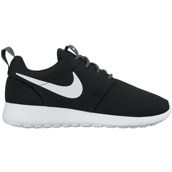 Nike Roshe One (£70) ❤ liked on Polyvore featuring shoes, sneakers, nike, shoes - sneakers, shock absorbing shoes, nike trainers, nike sneakers, black sneakers and nike footwear