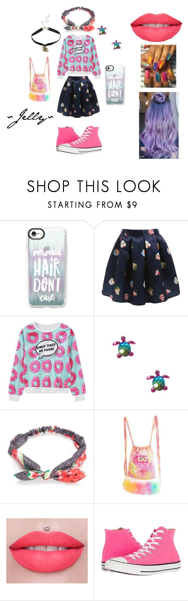 """JDS ~ Jelly"" by bts-obsessed on Polyvore featuring Mode, Casetify, WithChic, Disney, Red Camel, J. Valentine und Converse"