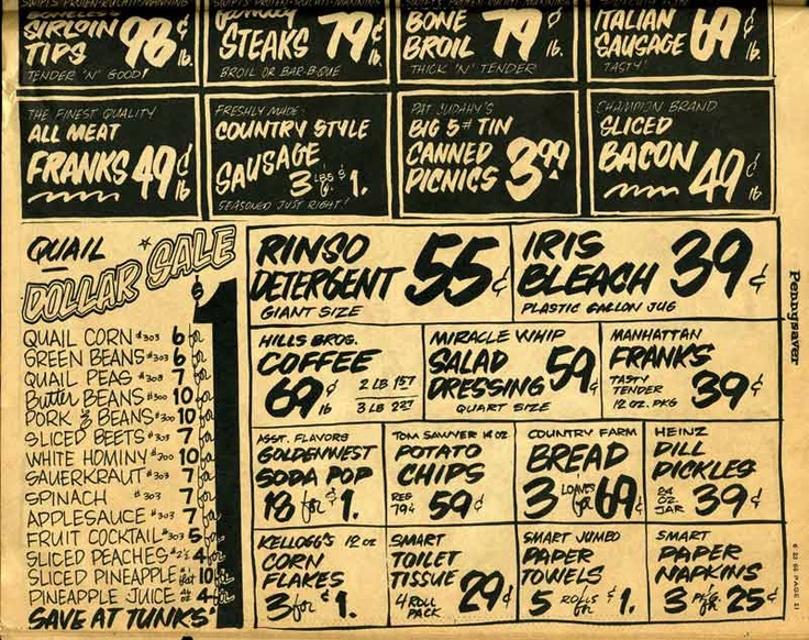 Continuation of the country store ad from the 1966 Pennysaver.