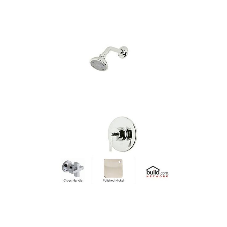 Rohl LOKIT20XM Lombardia Shower System with Shower Head Shower Arm and Valve T Polished Nickel Faucet Shower System Single Handle