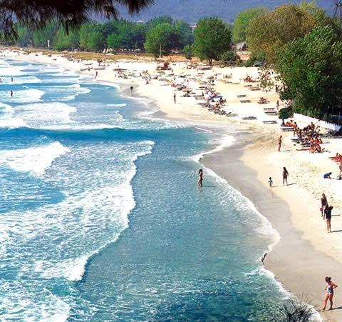 Chryssi akti beach, Thassos Island, N Aegean, Greece