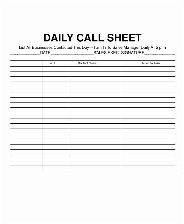 Sales Call Log Template Beautiful Call Log Sheet Template 11 Free Word Pdf Excel Sample Resume Templates Templates Toddler Lesson Plans Template