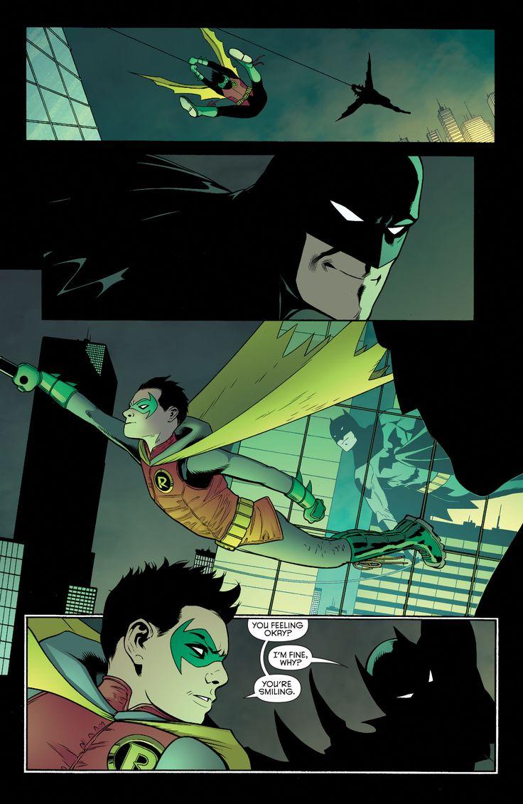 """Yeah, I guess I am."" Batman smiling"