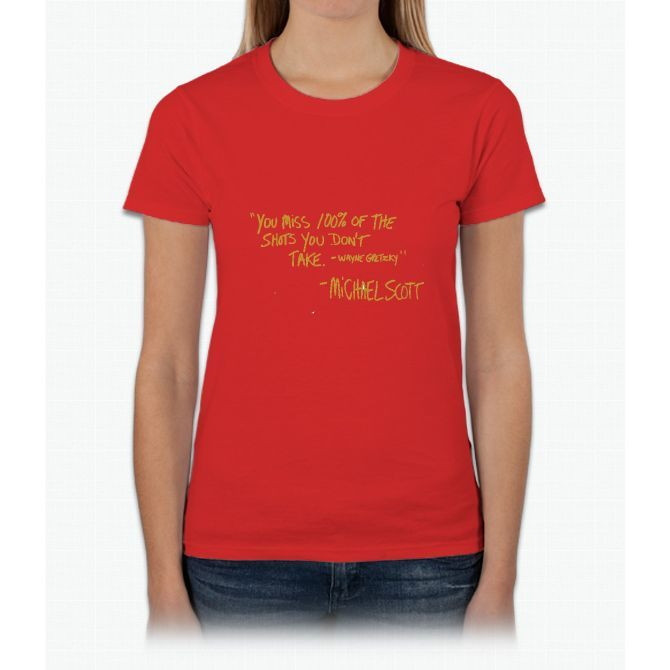 The Office Wayne Gretzky Quote Gold Womens T-Shirt