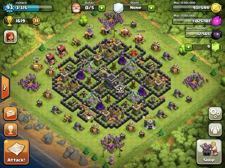 Town hall level 9 farming bases best town hall 9 trophy base more
