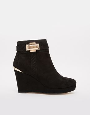 Image 1 of River Island Pedgey Wedge Ankle Boots 85.28
