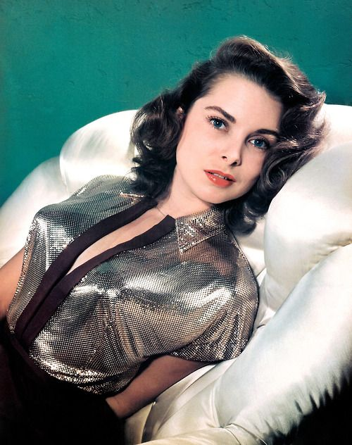 Janet Leigh, 1950s. Amazing shirt.  MUST pull out my bullet bra. Vintage Fashion Lingerie & Design z