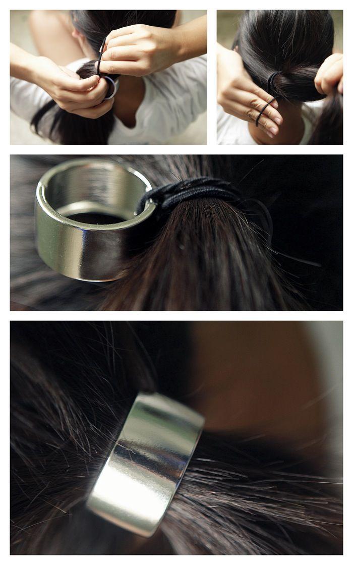 comment mettre elastique pour cheveux