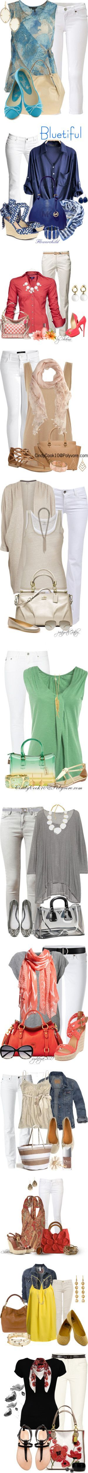 """""""Let's Wear White"""" by esha2001 on Polyvore"""