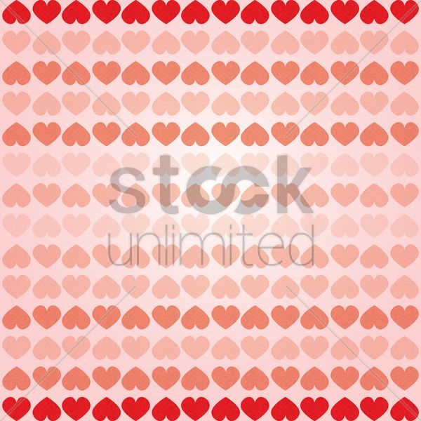 love hearts background Stock Vector