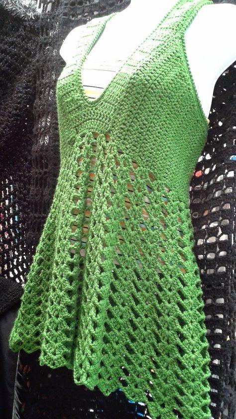 Este blusonsito esta muy adecuado para esta temporada de calor, tejido con hilaza de bambú que como quizá algunas de Uds. sabe es un materia...