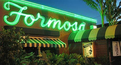 This place exudes an air of old Hollywood. It's long been a favourite of movie stars and Humphrey Bogart, Frank Sinatra and Clark Gable have all nursed a drink there in their day. Both the interior and distinctive red exterior of the Formosa Cafe can be seen in Curtis Hanson's neo-noir L.A. Confidential in the scene where Lana Turner flings a glass of water in the face of Guy Pearce's Ed Exley.