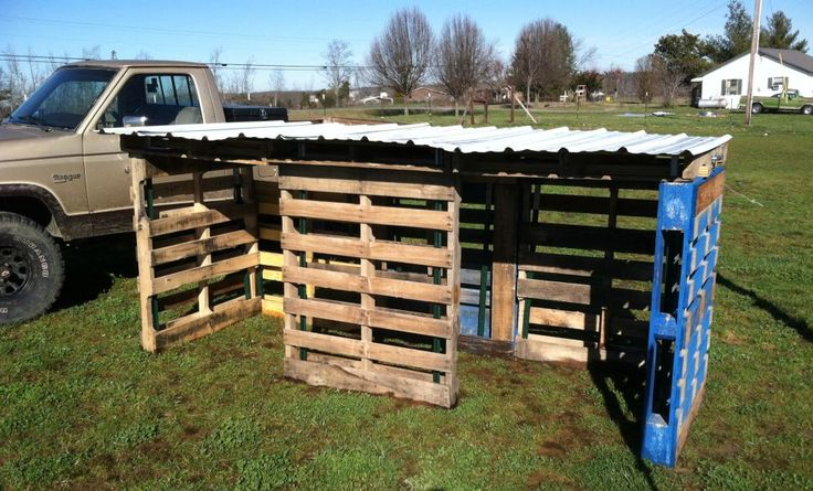 Ham: Building a goat shed with pallets