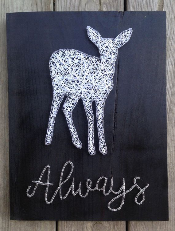 Harry Potter String Art/ Doe Patronus/ Harry Potter Home Decor