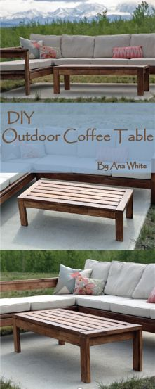 Kick back with Ana White's gorgeous DIY Outdoor Coffee Table. All you need is a few power tools and a small list of materials, and you're ready to make this beautiful and functional part of your outdoor seating area. It's the perfect DIY idea for any patio or porch furniture suite. Check out the DIY instructions at RYOBI Nation!