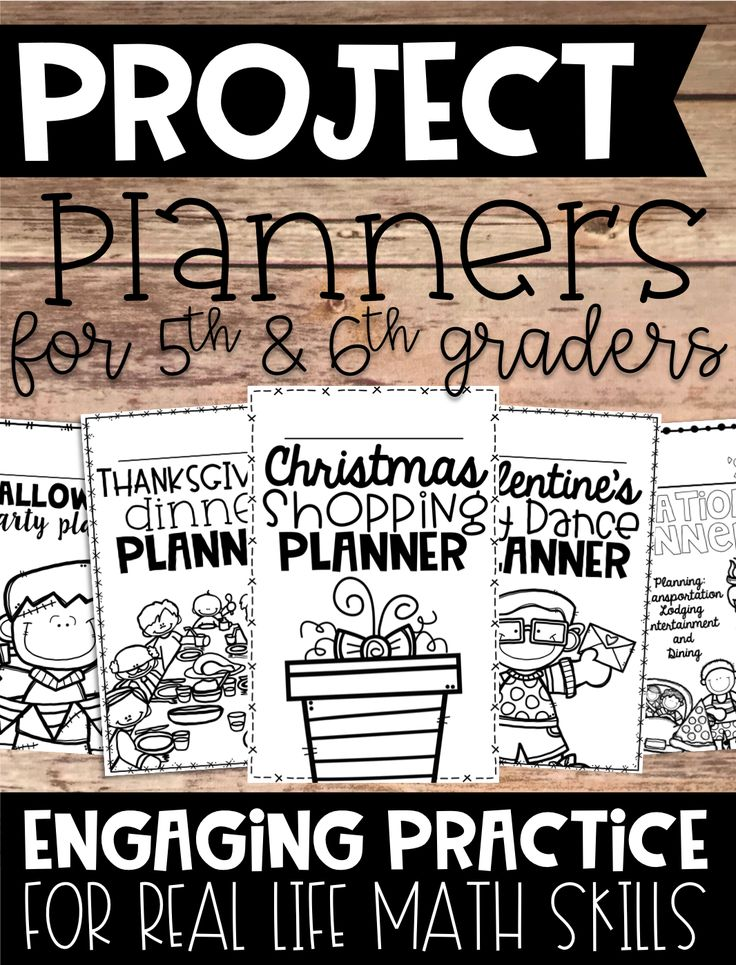 If you are wanting to incorporate more Project Based Learning into your math instruction, these planners are the perfect way to incorporate real life math skills in fun and engaging ways. This is perfect for 5th and 6th graders.