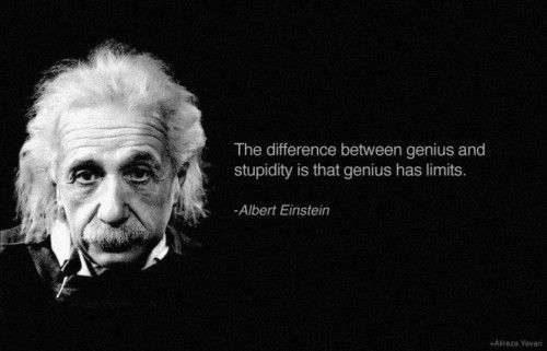 Quote of the day: Genius vs. stupidity http://goo.gl/Wwq5Ms  http://www.thehansindia.com/posts/index/2014-09-30/Quote-of-the-day-Genius-vs-stupidity-109697