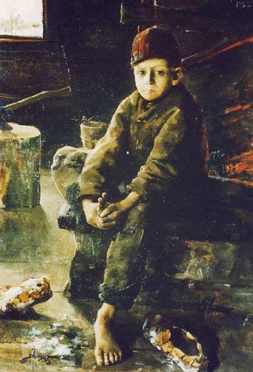 Akseli Gallen-Kallela (1861-1931)  Tiggargosse - Finland