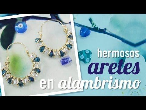 ARRACADAS ENGARZADAS CON CRISTAL! con Cecy Love Bisuteria - YouTube
