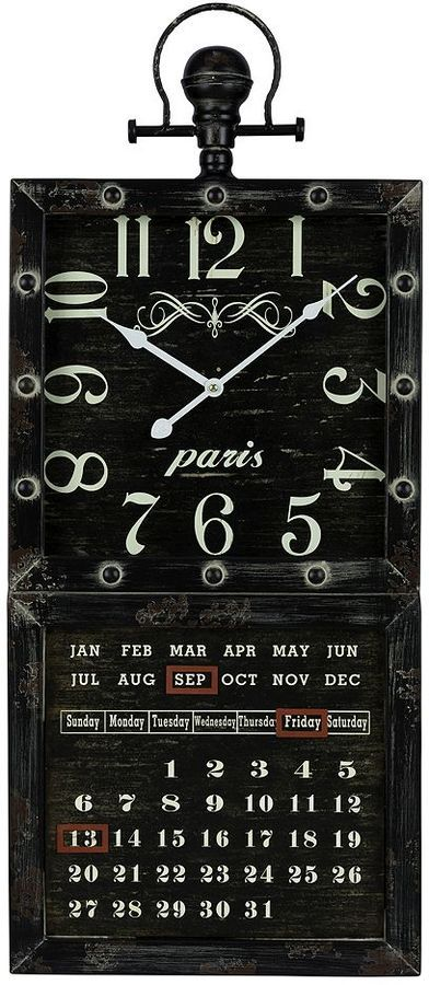 Gordon wall clock calendar