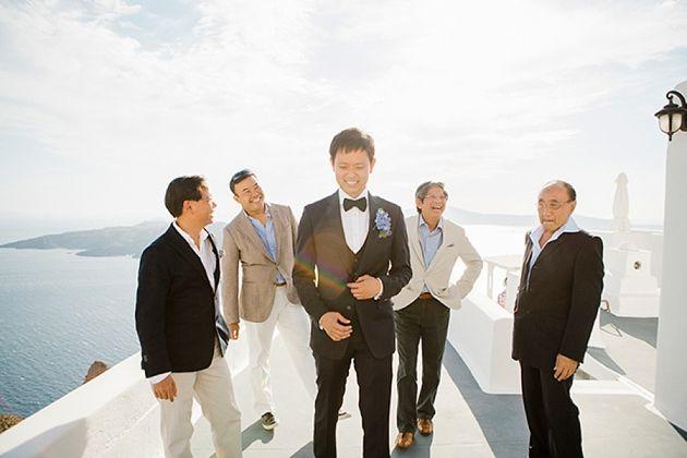 Intimate Weddings Greece | Santorini Wedding by Stella and Moscha - Exclusive Greek Island Weddings | Photo by Anna Roussos | www.stellaandmoscha.com