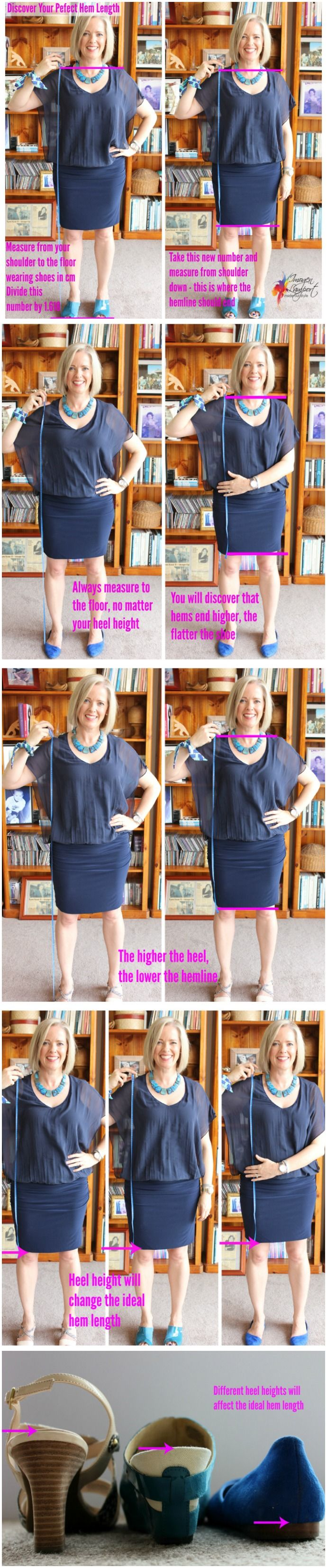 how to discover the perfect hem length