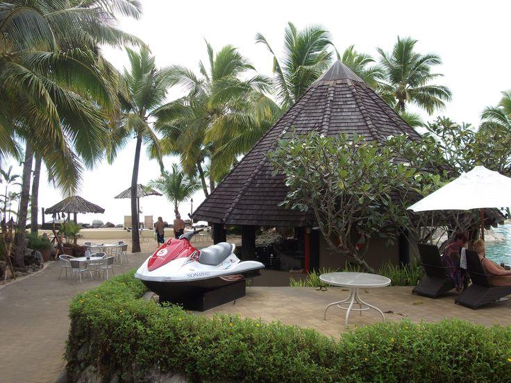 #Travel:  The Pool Bar, #Sonaisali Island Resort, #Fiji.  Photo Credit: Dawne Rudman