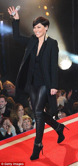 What a pro: Emma put the mishap behind her to get on with the show as she welcomed contestants
