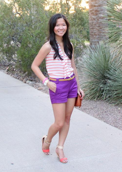 purple shorts. « jenny in jacquard: Purple Shorts, Outfit Ideas, Arizona Sunsets, Sunsets Shades