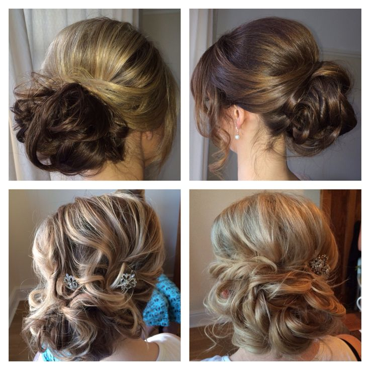 Bridesmaid curly hair up by www.nicolajoyce.com