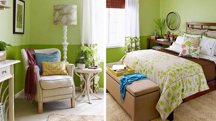 Inspire-se em ambientes pintados com diferentes tons de verde, essa cor que remete à natureza.