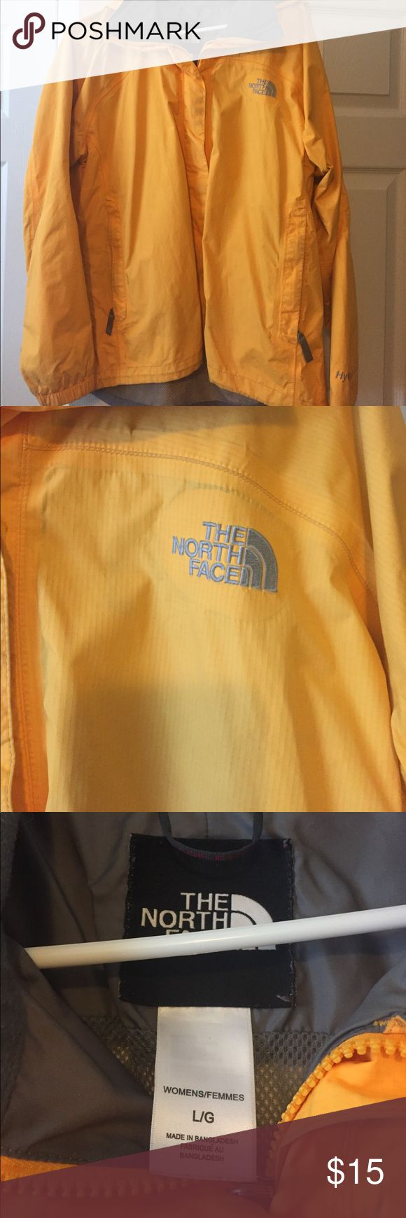 Women's North Face Yellow Rain Coat Wonderful size large women's rain coat for sale. It is on sale for a huge discount since it has been worn and well loved! North Face Jackets & Coats Trench Coats
