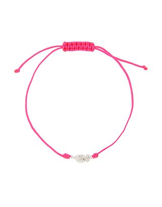 Whether worn solo for a dainty look or stacked up with your favourite pieces, our cord bracelet is set to be an everyday favourite. This neon design features...