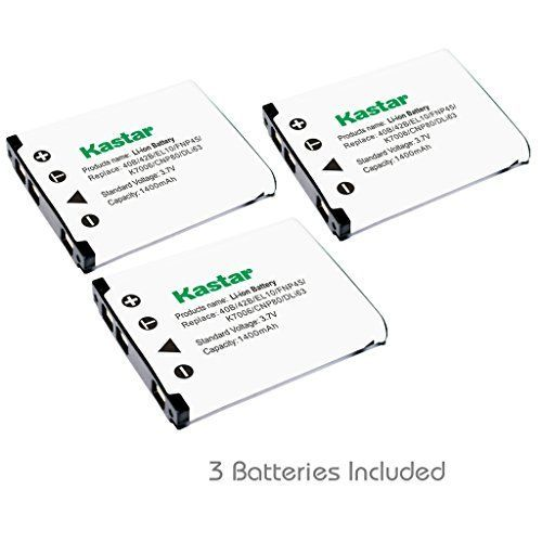 Kastar FNP-45 Battery (3-Pack) for Fujifilm NP-45, NP-45A, NP-45B, NP-45S Rechargeable Lithium-ion Battery and Fuji Digital Camera (Detail Models in the Description)