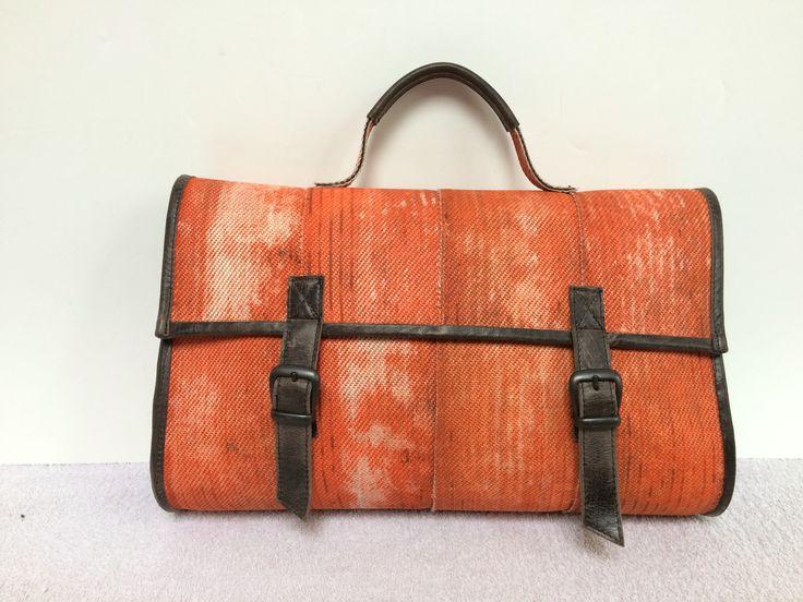 "Handbag, made of the used firehose. 15"" laptop sized!"