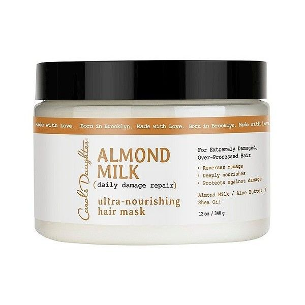 Carol's Daughter Almond Milk Daily Damage Repair Ultra-Nourishing Hair... ($13) ❤ liked on Polyvore featuring beauty products, haircare, hair conditioner, straight iron, carols daughter haircare, styling iron, flat iron and carols daughter mask