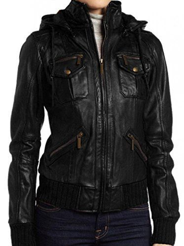 Hoods gives a cozy look thats why The Leather Factory brings a wonderful bomber jackets for women who loves to stay cozy in winters. It has four front pockets, detachable hood, rib knitted cuffs and hem. We guarantee a good quality leather coat at a great price that you could never find...  More details at https://jackets-lovers.bestselleroutlets.com/ladies-coats-jackets-vests/leather-faux-leather-ladies-coats-jackets-vests/product-review-for-the-leather-factory-womens-lamb