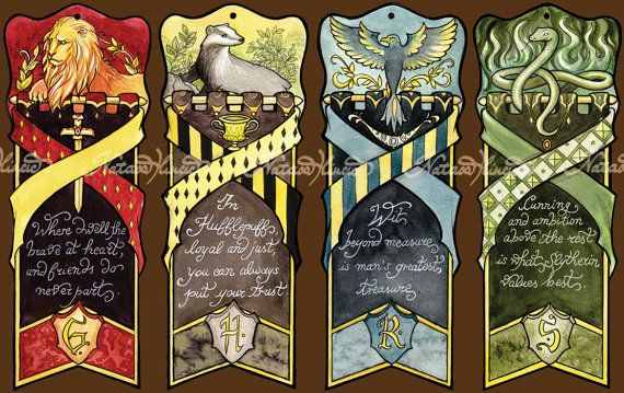 harry potter hogwarts bookmarks hogwarts paper and unique gifts. Black Bedroom Furniture Sets. Home Design Ideas