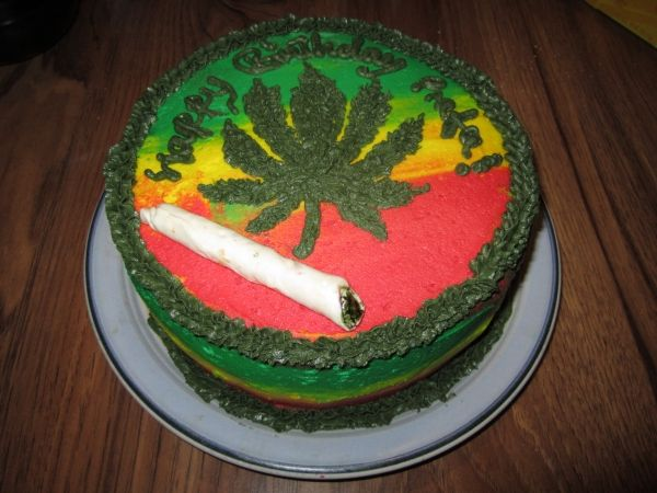 Photo Of Happy Birthday Herb Cake