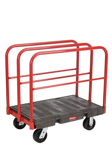 """Handling Truck with Removable Frame and 6"""" Wheels: Working cart with removable vertical frame and 6"""" wheels"""