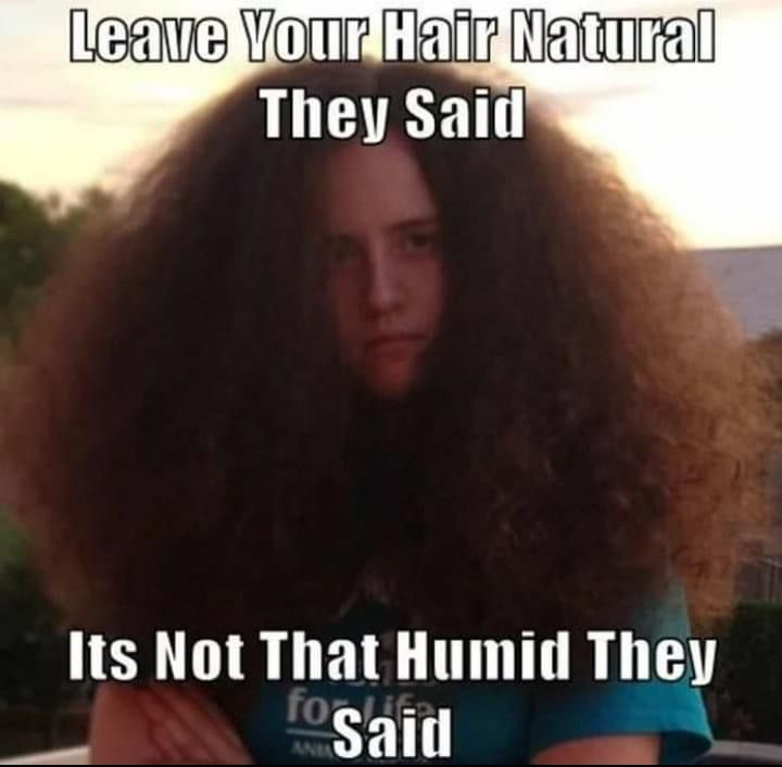 Natural And Humid In 2020 Hair Jokes Hair Quotes Funny Curly Hair Styles