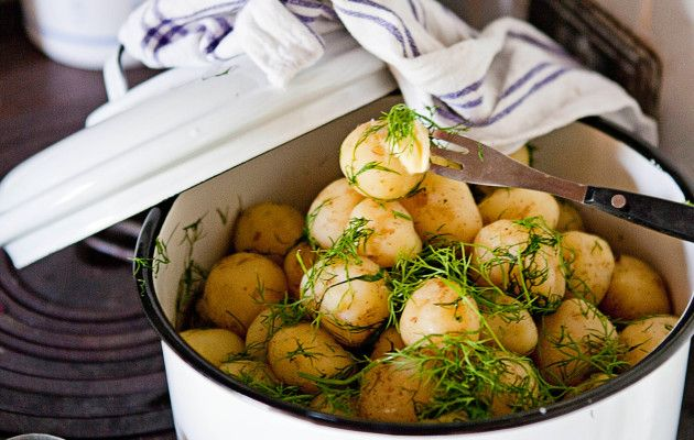 New potatoes, Finnish Food, June 2016