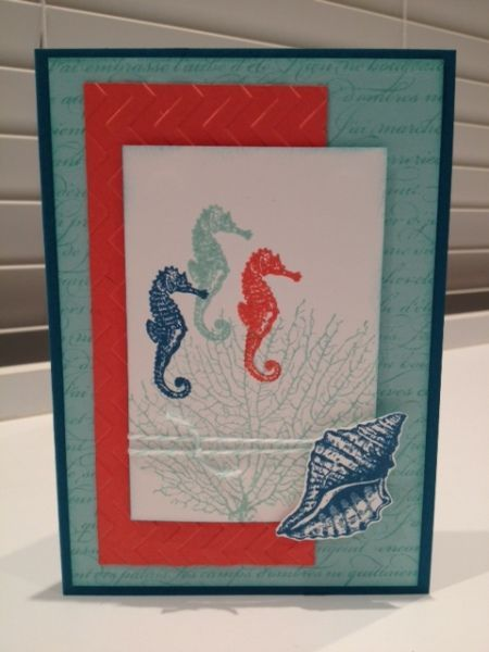 Stampin up by the tide stamp set