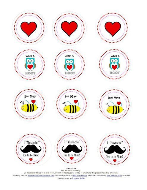 Valentine Printables from Barb at Second Chance to Dream - Miss Information