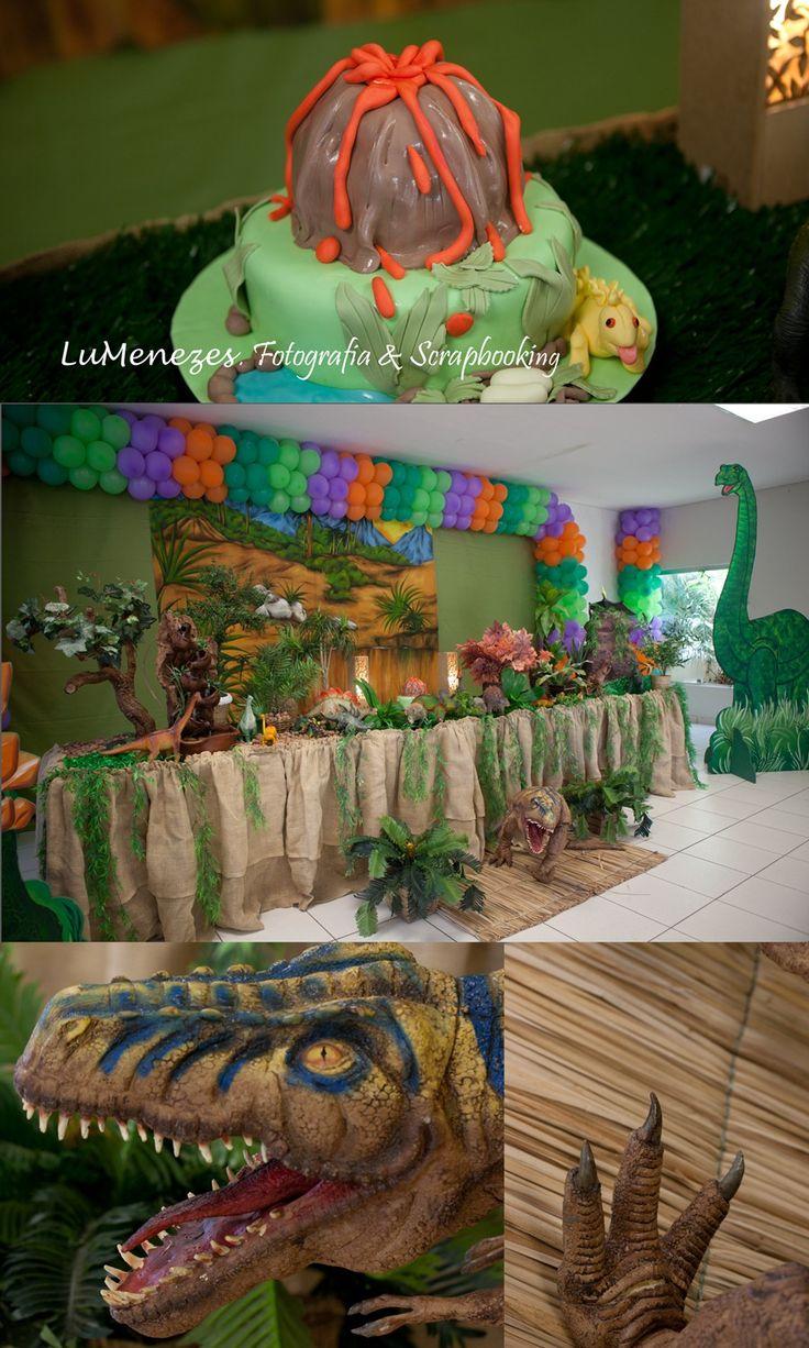 Decoração de festa no tema de Dinossauros. Dino Party
