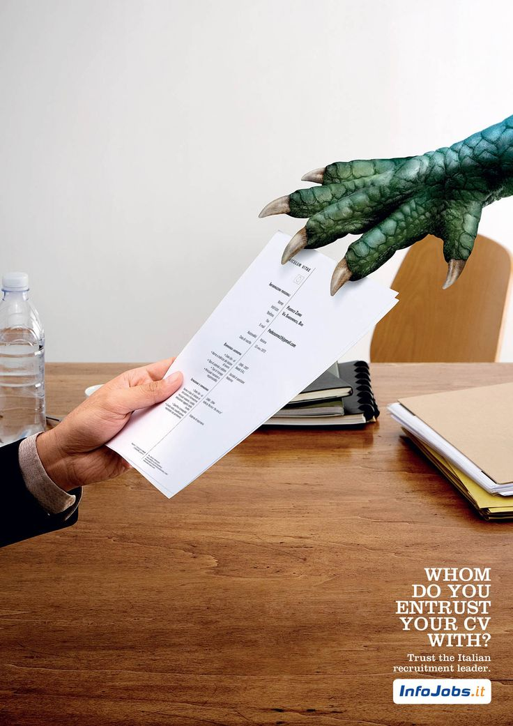 InfoJobs.it - Whom do you entrust your with? #funnyads