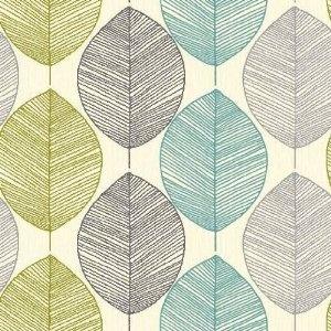 Teal / Lime Green - 408207 - Retro Leaf - Motif - Arthouse Wallpaper: Amazon.co.uk: Kitchen & Home also at homebase