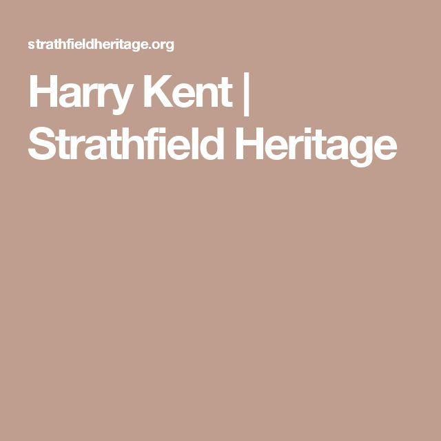 Harry Kent | Strathfield Heritage